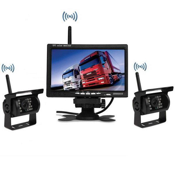24V Truck Wireless CCTV rear camera system with 7inch monitor